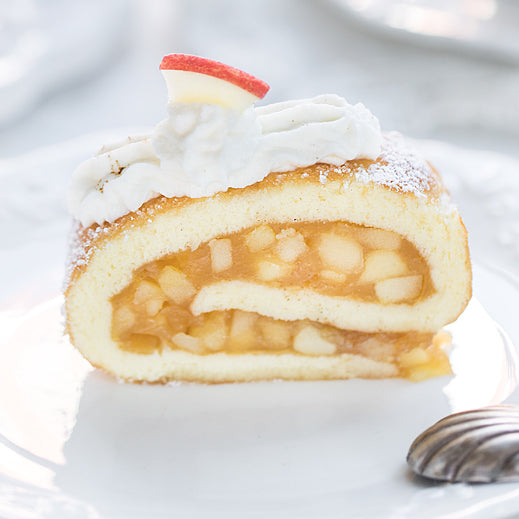 German Biscuit Apple Roll - Biskuit Apfelrolle
