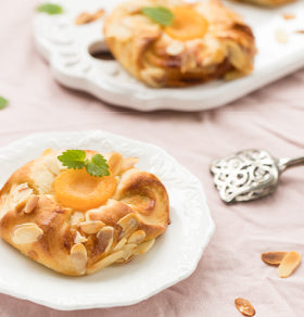 German Peach Marzipan Pastry