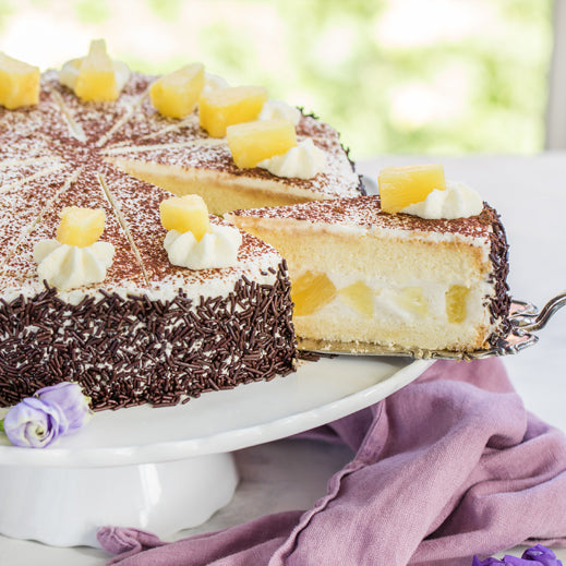 German Pineapple Cream Layered Cake