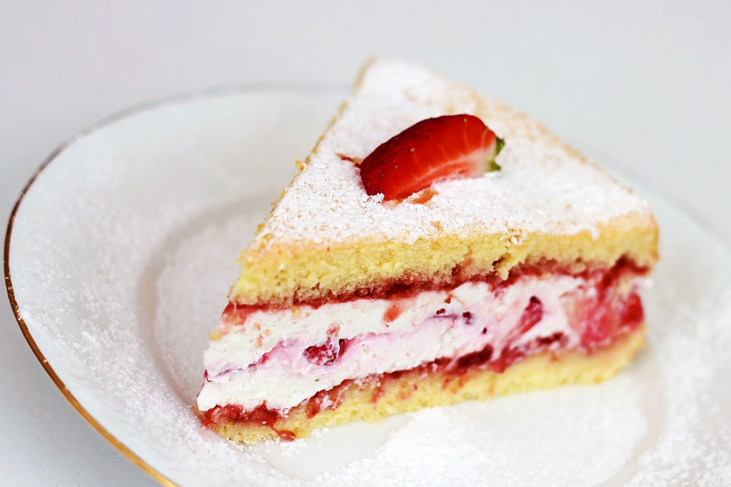 German Strawberry Cream Layered Cake