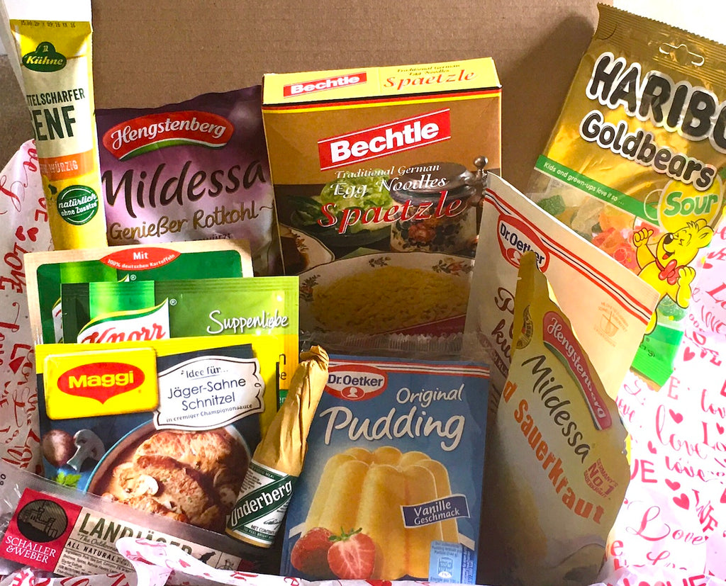 german delicatessen box, a true german food box with made in Germany goodies