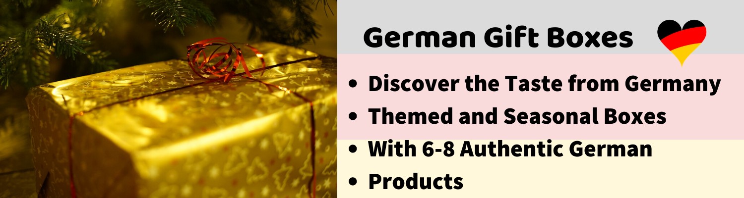 german gift box with authentic german food products Made in Germany for holidays, seasons and special occasions