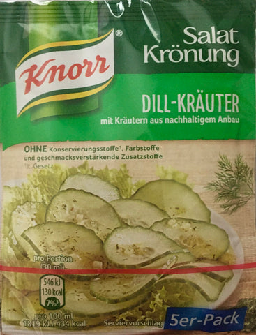 Knorr Salad Dressing Dill Herbs for Cucumber Salad - Pack of 5