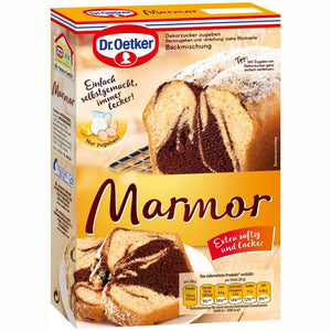 dr oetker marble cake baking mix - made in germany