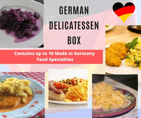 german delicatessen box - with made in germany food items