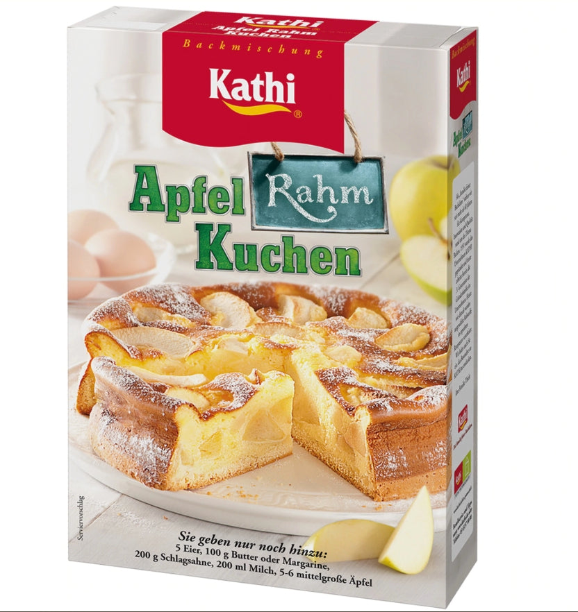 german apple cake baking mix from Kathi - Deutscher Apfelrahmkuchen