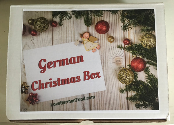 german christmas box with imported german items