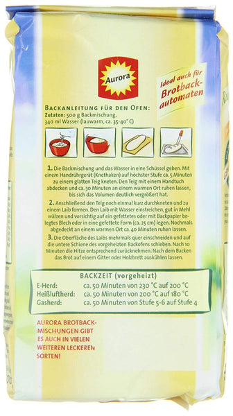 How to bake the German country bread - A baking mix from Aurora - Directions -Made in Germany