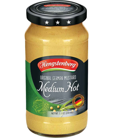 german mustard medium hot Hengstenberg