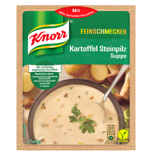 Knorr Potato Porcini Soup - German Gourmet Steinpilz Soup