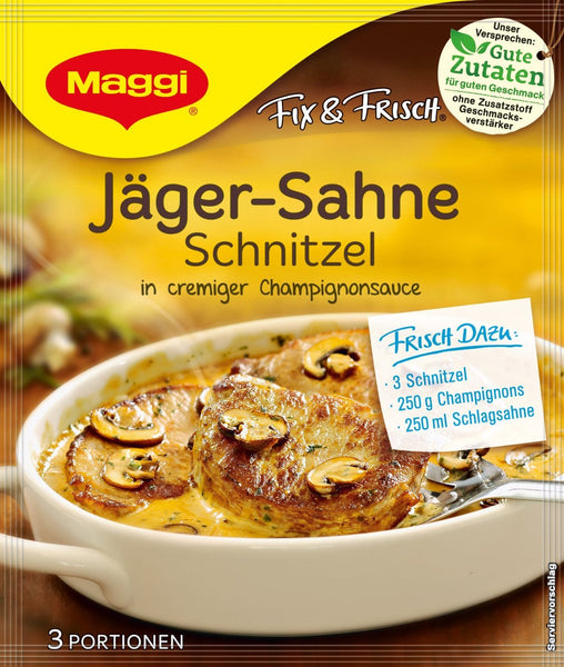 german food box maggi gravy for jagerschnitzel, just add the meat