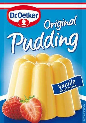 made in germany vanilla pudding Dr oetker, original, not artificially flavored