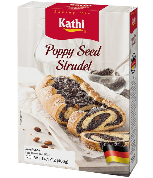 Kathi German Poppyseed Strudel Baking Mix - German Mohnstrudel 14.1oz