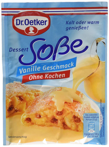 German Vanilla Sauce Dr. Oetker-Made in Germany, For Desserts, Cold or Warm