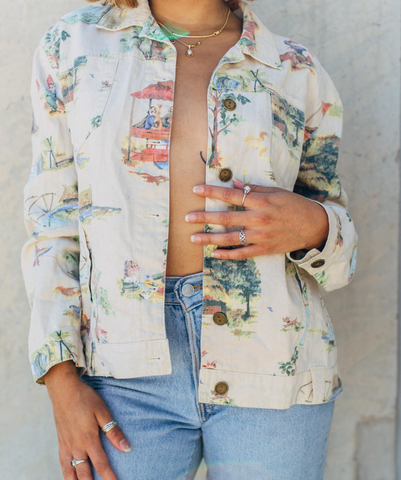 Vintage Summer Printed Jacket