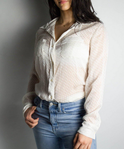Vintage Textured Blouse