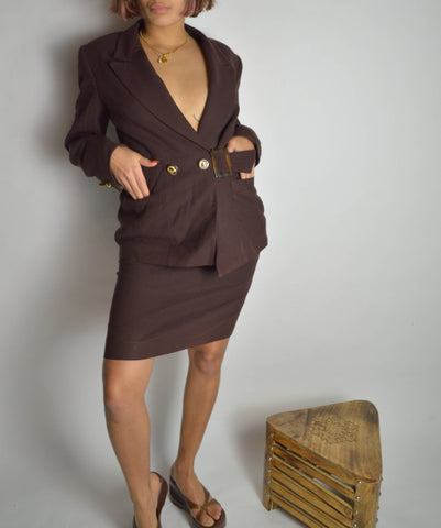 Vintage Two-Piece Suit Set