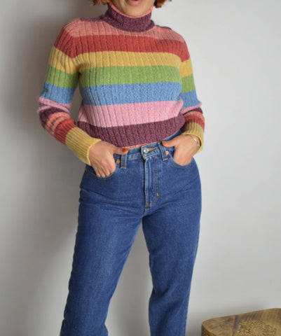 Vintage Rainbow Turtleneck