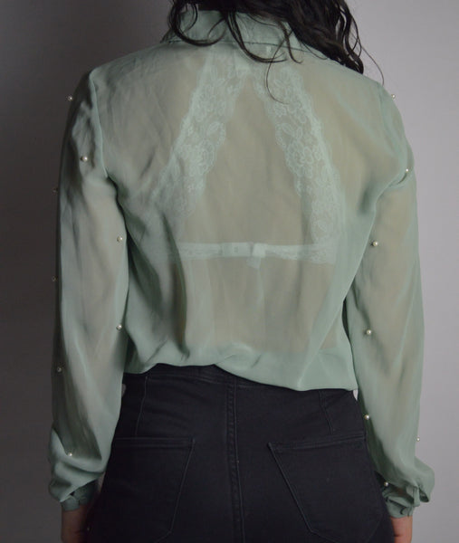 Vintage Beaded Blouse
