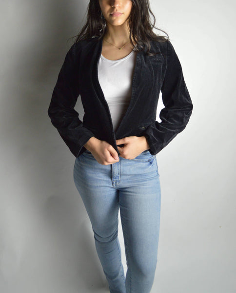 Vintage Cropped Velour Jacket