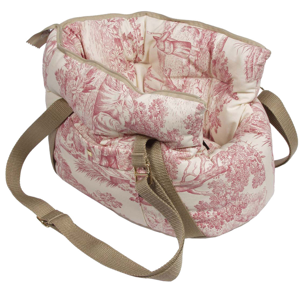 Dog Carrier Baroque Red