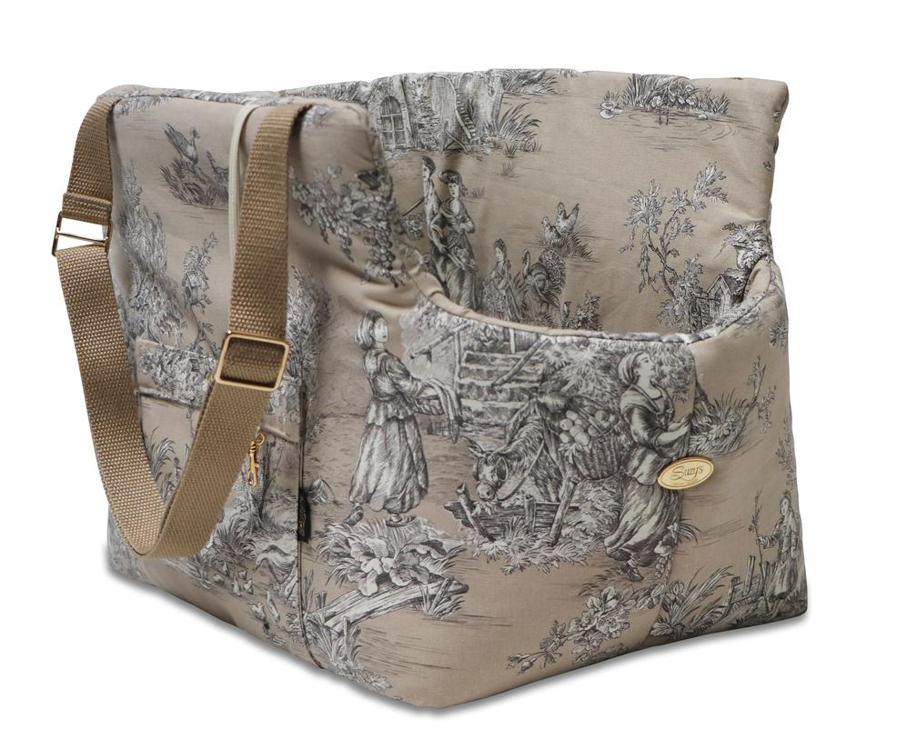 Baroque Pick and Sleep Beige Dog Carrier