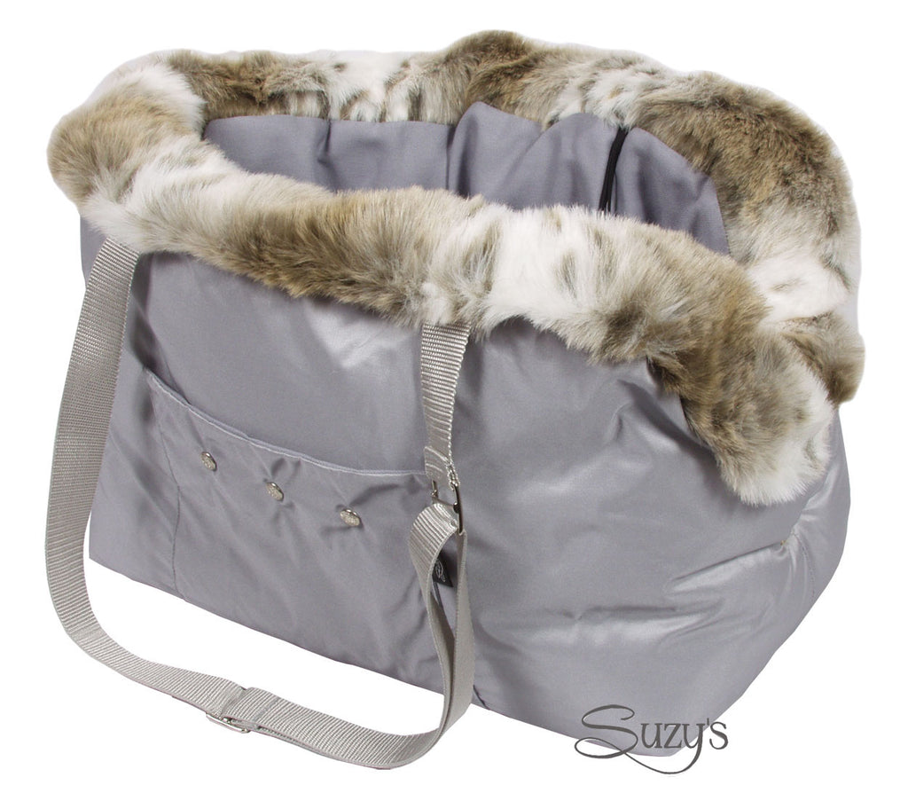Cupido Luxury Dog Carrier Grey