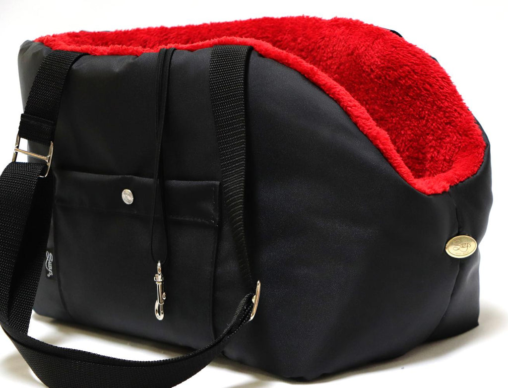 Rainy Bear Black and Red Dog Carrier