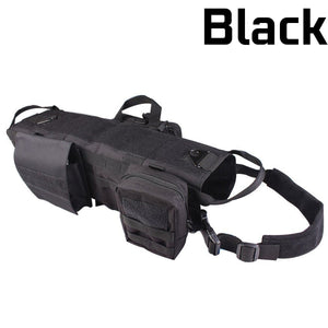 HoundGear™ Tactical Dog Vest - Black / L - Sparbi.com