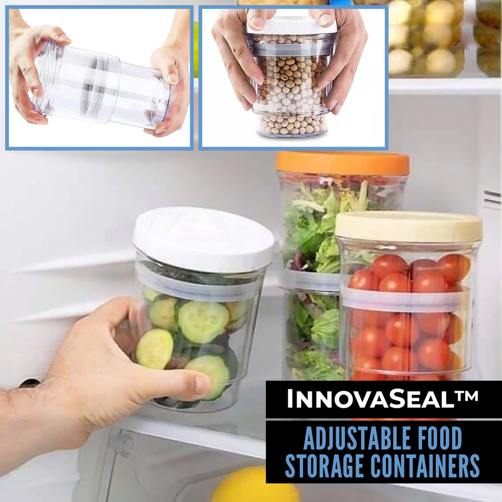 InnovaSeal™️ Adjustable Food Storage Containers - Sparbi.com