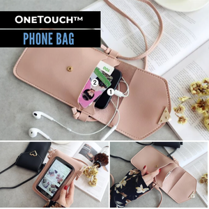OneTouch™ Phone Bag - Baby Pink - Sparbi.com