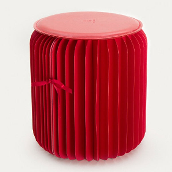 Ottoman™ Portable Folding Stool - Ruby Red - Sparbi.com