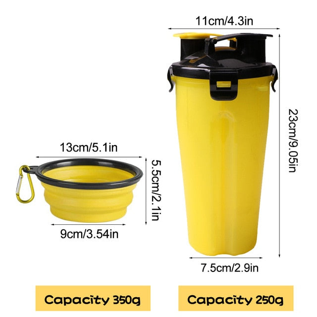 Pawssential™ 2 In 1 Pet Feeder Bottle - Yellow - Sparbi.com
