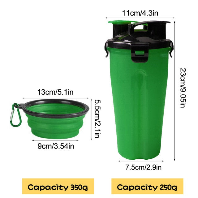Pawssential™ 2 In 1 Pet Feeder Bottle - Green - Sparbi.com