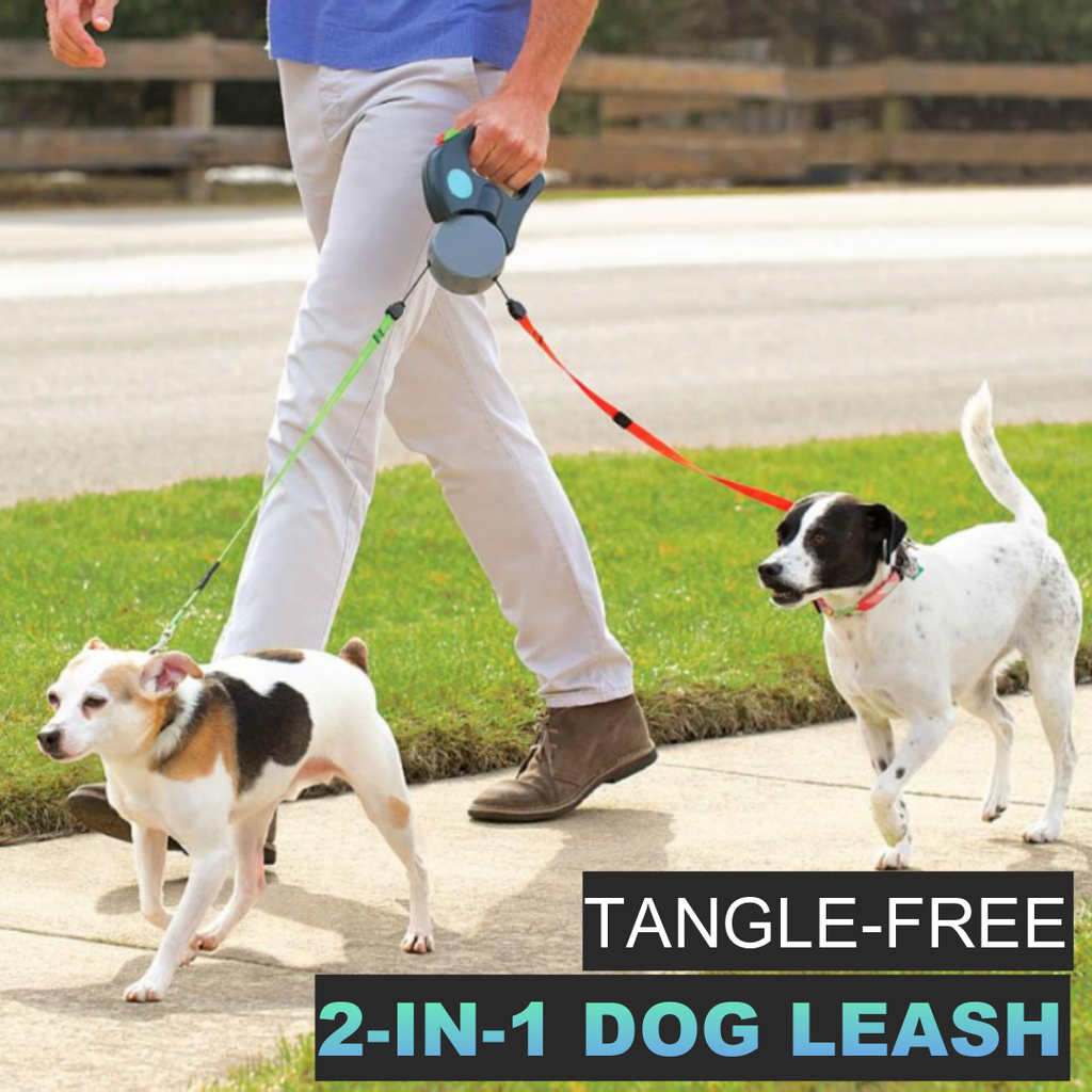 Duo™ Automatic Retractable Dog Leash - Sparbi.com