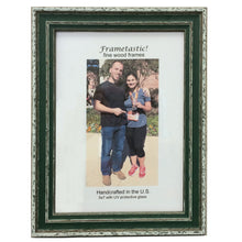Load image into Gallery viewer, cheerful, colorful photo frames in Forest Green have a sporty, slightly rustic look