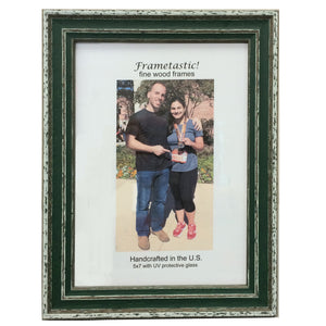 cheerful, colorful photo frames in Forest Green have a sporty, slightly rustic look
