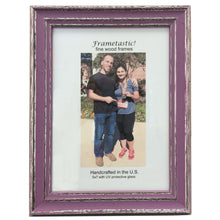 Load image into Gallery viewer, cheerful, colorful photo frames in Orchid have a sporty, slightly rustic look