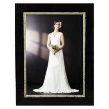 Load image into Gallery viewer, Contemporary, high style black with silver photo frames. Great for wedding and other formal pictures