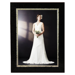 Contemporary, high style black with silver photo frames. Great for wedding and other formal pictures