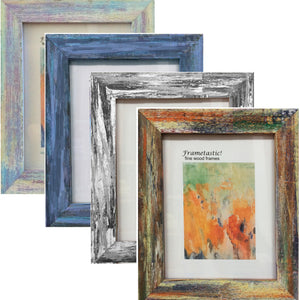 Modern Fresco Barnwood wall frames are infused with color for an updated fresco look. Handcrafted from reclaimed barn wood.