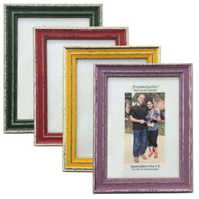 Load image into Gallery viewer, cheerful, colorful photo frames with a sporty, slightly rustic look