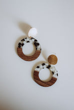Load image into Gallery viewer, Zoey -- Wood and Resin Statement Earrings