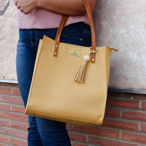 Paradiso Tote in Mustard
