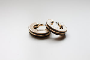 Tasman Hoop Earrings in Taupe