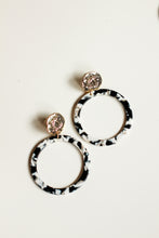 Load image into Gallery viewer, Black and White Acrylic Statement Earrings