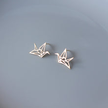 Load image into Gallery viewer, Paper Crane Stud Earrings