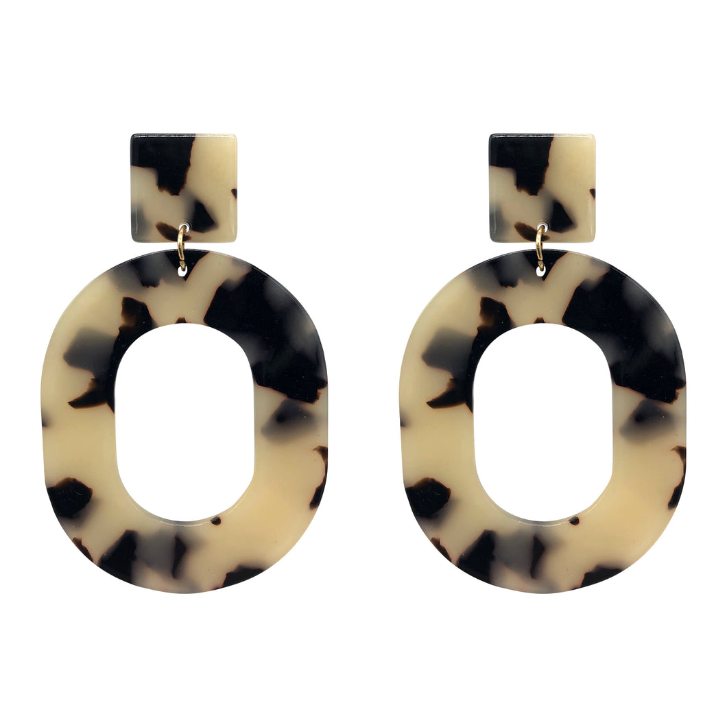 Acrylic Tortoise Shell Statement Earrings