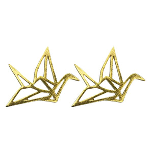 Paper Crane Stud Earrings