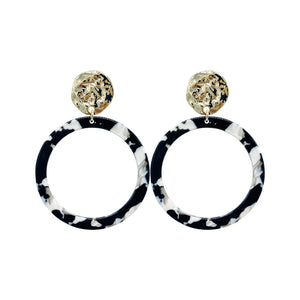 Black and White Acrylic Statement Earrings
